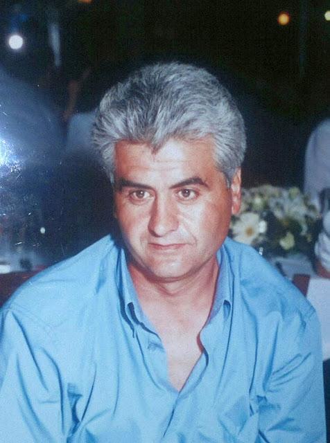 Погибший Димитрис Коцаридис, рабочий-строитель, деятель профсоюзного движения ПАМЕ.