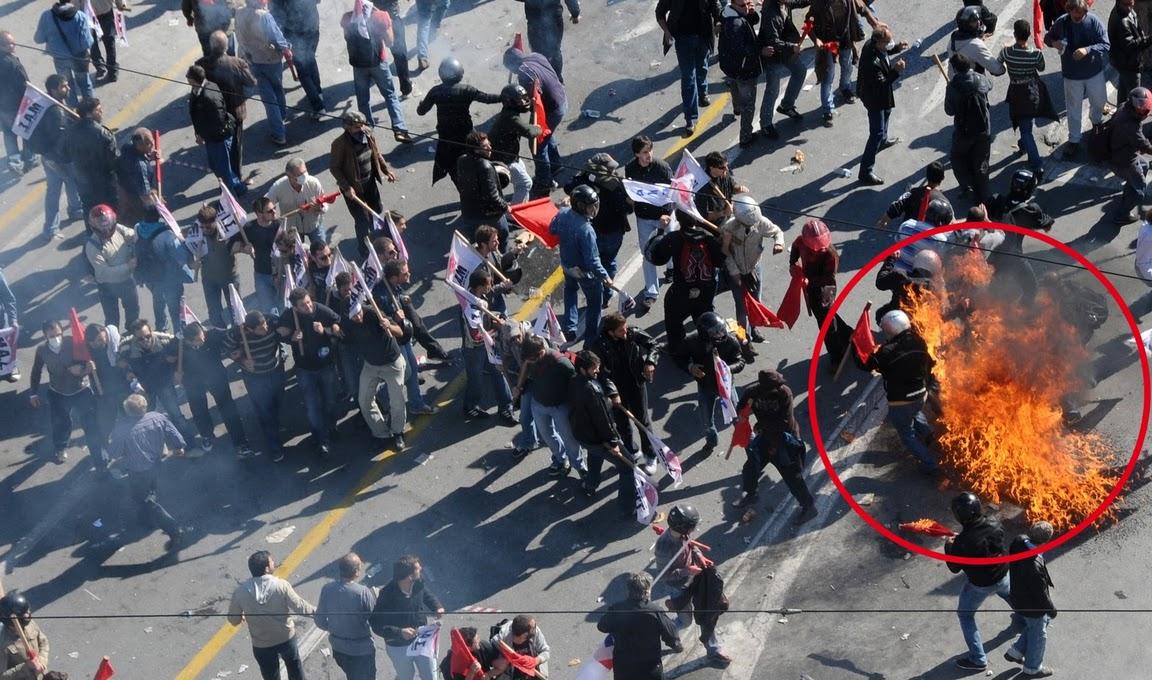 Атака провокаторов против Команды защиты ПАМЕ