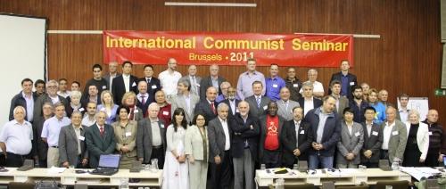 Участники 20-го Международного Коммунистического Семинара (Брюссель, 12-15 мая 2011 г.)